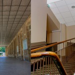 Nous avons réalisé ou rénové les plafonds suspendus intérieurs et extérieurs de l'IND.
