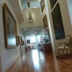 Salle d'exposition du musée de Valence. Réalisation de peinture